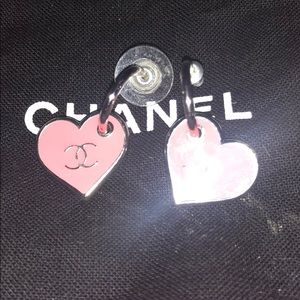 Chanel authentic earring heart dangle price FIRM-